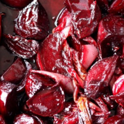 Baked Beetroot with Balsamic vinegar, Marjoram and Garlic