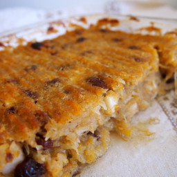 Baked Breakfast Casserole with Apples and Raisins(Baked Oatmeal Substitute)