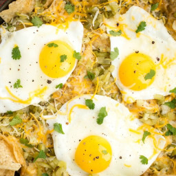 Baked Breakfast Nachos (Chilaquiles)