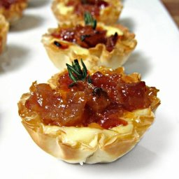 Baked Brie and Bacon Jam Phyllo Cups