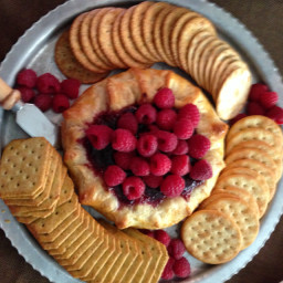 Baked Brie with  Fig Jam in Pastry a Puff