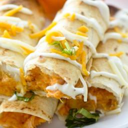 Baked Bufffalo Chicken Taquitos