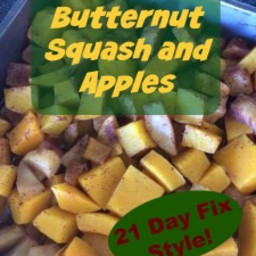 Baked butternut squash and apples