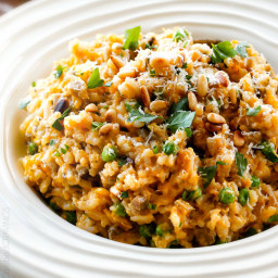 Baked Butternut Squash Risotto with Pine Nuts