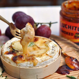Baked Camembert With Chipotle Honey