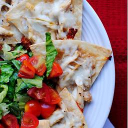 Baked Chicken Caesar Chalupa Nachos