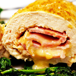 Baked Chicken Cordon Bleu with Maple Dijon