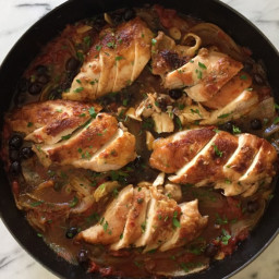 Baked Chicken with Tomatoes, Olives and Capers