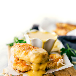 Baked Coconut Crusted Chicken Tenders with Creamy Honey Mustard Dipping Sau