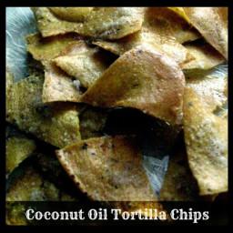 Baked Coconut Oil Corn Tortilla Chips