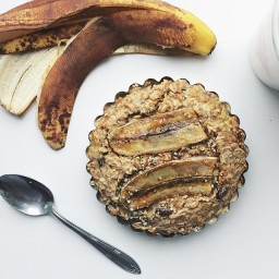 Baked Coconut Raisin Oatmeal