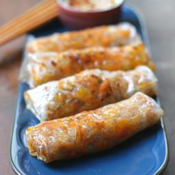 Baked Dumpling Rolls w/ Ginger Chilli Sauce