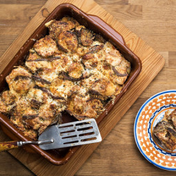 Baked Eggplant With Ricotta, Mozzarella and Anchovy