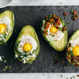 Baked Eggs in Avocado: Two Ways