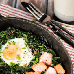 Baked Eggs With Spinach And Smoked Salmon Recipe