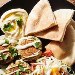 Baked Falafel With Orange-Tahini Sauce