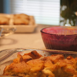 Baked French Toast Casserole with Blueberry Topping