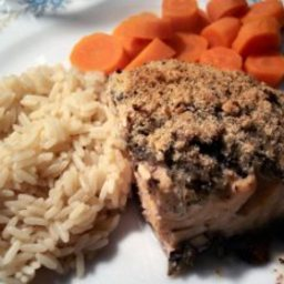 Baked Fresh Salmon Steak