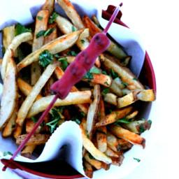 Baked Garlic-Cilantro Fries