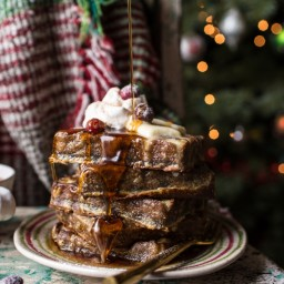 Baked Gingerbread Custard Waffle French Toast