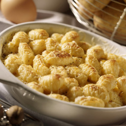 Baked Gnocchi Mac and Cheese with Cauliflower