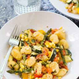Baked Gnocchi with Summer Vegetables