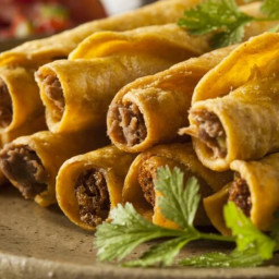 Baked Ground Beef Taquitos