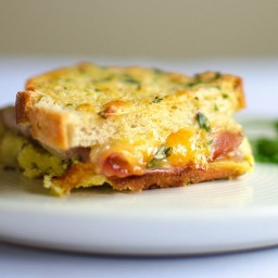 Baked Ham and Cheese Breakfast Sandwiches