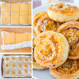 Baked Ham and Cheese Roll-Ups