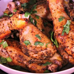 Baked Herb & Garlic Chicken Drumsticks