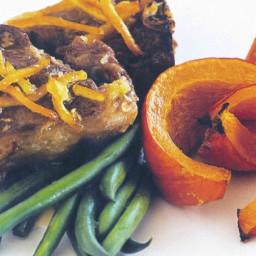 Baked lamb chops with pumpkin