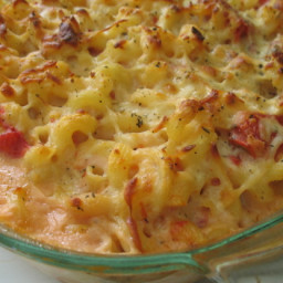 Baked Macaroni and Cheese with Stewed Tomatoes