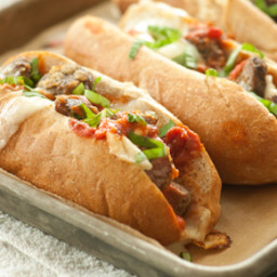 Baked Meatball Subs with Fresh Mozzarella