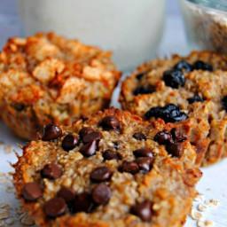 Baked Oatmeal Cups 3 Ways {Gluten-Free}