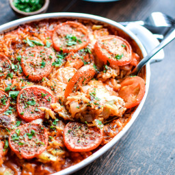 Baked Orzo with Chicken