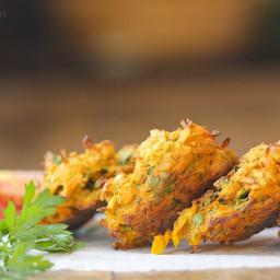 Baked Pakora - Vegan Indian Food