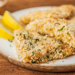 Baked Panko-Crusted Fish Fillets