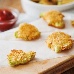 Baked Parmesan Broccoli Medallion Chips