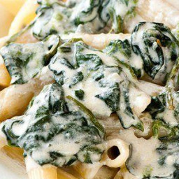 Baked Penne with Ricotta and Spinach