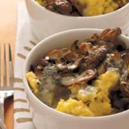 Baked Polenta With Mushrooms and Gorgonzola