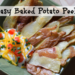 Baked Potato Peels ~ Eat Your Veggies (skins!)