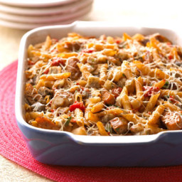 Baked Ratatouille-Sausage Penne