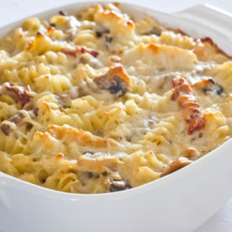 Baked Rotini with Chicken and Tomatoes