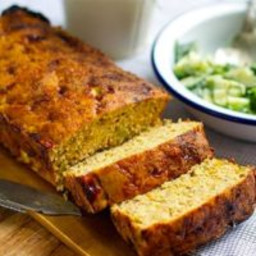 Baked Salmon Loaf With Dill and Cucumber Salad
