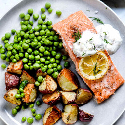 Baked Salmon with Creme Fraiche