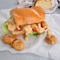 Baked Shrimp Po' Boy Sandwiches