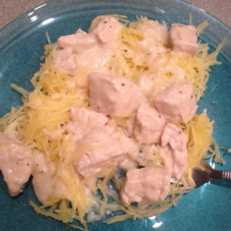 Baked Spaghetti Squash and Chicken (Mf)