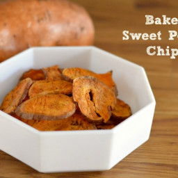 Baked Sweet Potato Chips with Sea Salt and Pepper