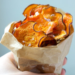 Baked Sweet Potato Crisps
