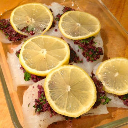 Baked Tilapia Filet with Sun-Dried Tomato